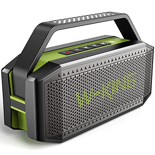 Cassa Bluetooth potente, W-KING 60W Speaker Bluetooth Portatile, impermeabile casse altoparlante, bassi potenti, 40 Ore di riproduzione, 12000mAh batteria, con NFC, microfono, carta di TF (D9-1)