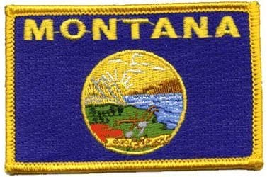 Montana Cheap super special price Genuine Iron-on Patch Embroidered
