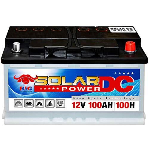 Solarbatterie 100Ah BIG 12V Versorgungsbatterie Boot Caravan Wohnmobil Batterie
