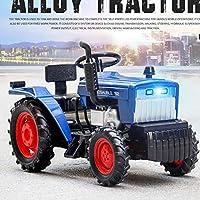Tractor モデル 1/32スケールィコンポジットダイキャストモデル車モデルの装飾 オフロードトラクター ヘッドライト (青)