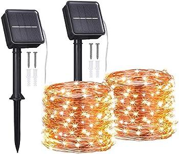 2-Pack Tomshine Waterproof Solar String Outdoor Lights