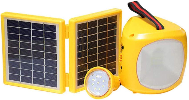 Uonlytech LED Hanging Camping lamp Solar Lantern Light Portable Emergency lamp Desktop Night Light Outdoor use(Yellow)
