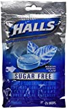 Special pack of 5 HALLS SUGAR FREE COUGH DROP MOUNTAIN MENTHOL 25 per pack