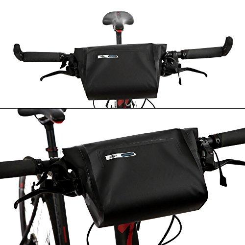 BTR Wasserfeste Allwetter Lenkertasche für jedes Fahrrad mit Abnehmbaren Schultergurt. Fahrradtasche Wasserdicht Lenkertasche Fahrrad Wasserdicht - 6