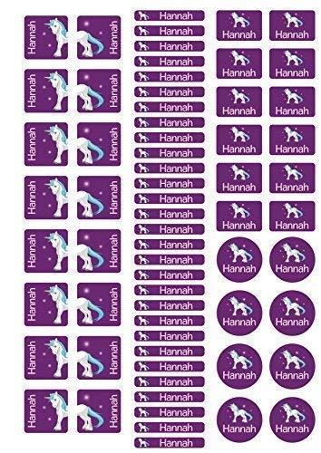 Mein Zwergenland Stickerbogen mit Schuhaufkleber für den Kindergarten mit Namen Einhorn