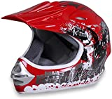 Actionbikes Motors Motorradhelm X-Treme Kinder Cross Helme Sturzhelm Schutzhelm Helm für Motorrad Kinderquad und Crossbike Modell in rot (Medium)