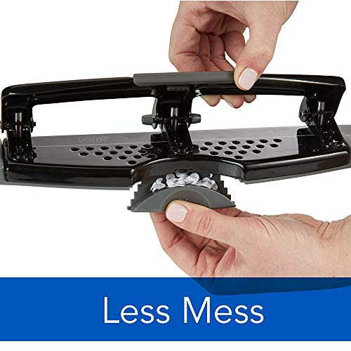 Swingline 3 Hole Punch, Desktop Hole Puncher 3 Ring, SmartTouch Metal Paper Punch, Home Office Supplies, Portable Desk Accessories, 20 Sheet Punch Capacity, Low Force, Black/Gray (74133) Photo #6