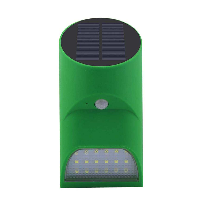 XNCH LED Solar Wall Light 1W Solar Motion Sensor Lights/Bamboo Downlight,Indoor \u0026 Outdoor Flood Lights Landscape Lighting Wall Sconces-Green