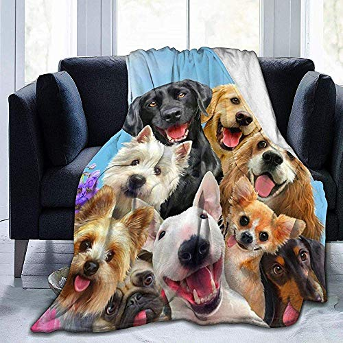 Wobuzhidaoshamingzi Dog Selfie Ultra Soft Fleece Jacket flanel Velvet Plush Throw
