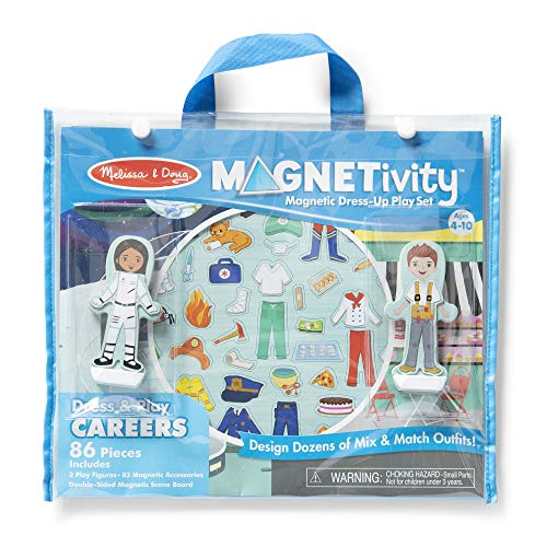 Melissa & Doug Magentivity Magnetic Dress-Up Play Set – Dress & Play Careers