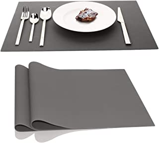 IPHOX Large Silicone Mats Table Mats Placemats Countertop Protection, Place Mats for Kitchen Dining Table Heat Resistant Baking Mat, Tablemat for Baby Kid Children, 17.7