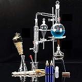 Sucastle Alambic Distillation Unités Ensemble de distillateur de Verre de Laboratoire Science 500 ML