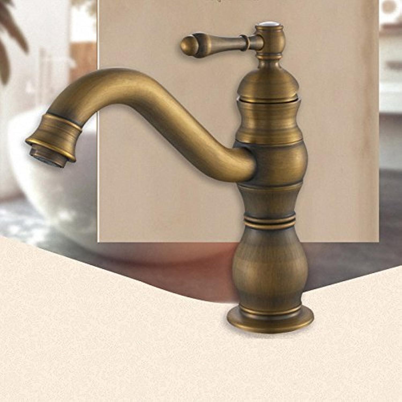Makej Luxury Bathroom Sink Faucet Solid Brass Deck Mount 1 Handle Antique Brass Polished gold Oil Rubbed Bronze Black Tap Antique Brass