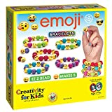 Creativity for Kids Emoji Bracelets, Makes 5 Bead Bracelets - Arts and Crafts Jewelry Making for Kids