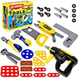 NEOWEEK Kids Tool Set 31 Pieces Durable Pretend Play Construction Electric Tool Playset Accessories Toys Gift for Girls Boys Ages 3 , 4, 5, 6, 7 Years Old