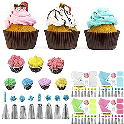 RIBITENS 14 Pcs/Set Kitchen Baking Tools Icing Piping Tips Cake Cream Decoration Tools Set Candy Making Molds