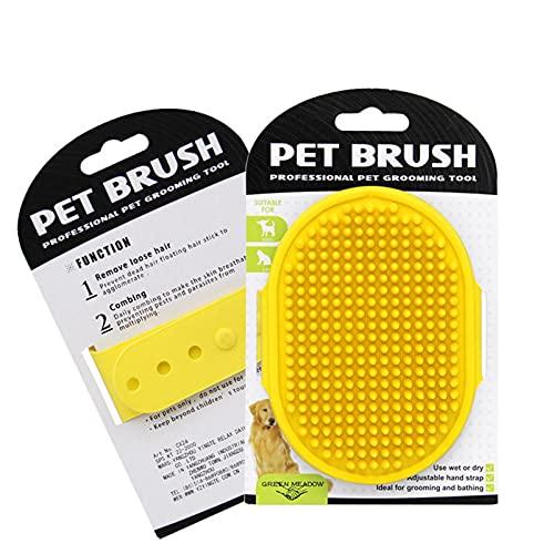 Brosse de toilettage pour chien avec poignée réglable en caoutchouc pour chiens et chats à poils longs et courts