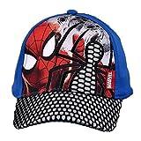 Marvel Spiderman Gorra Verano Gorra Ajustable Azul 52cm