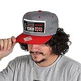 Nintendo Controller Snapback Cap Basecap für Gamer grau rot hochwertig Geschenk
