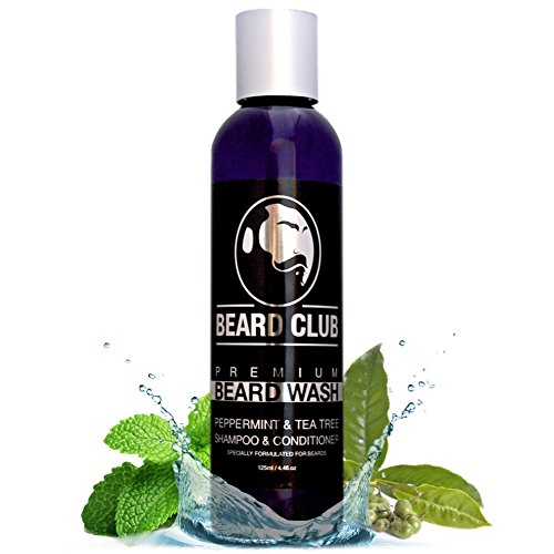 Shampoo e balsamo Premium per barba | 125 ml | Beard Club | Lavaggio barba al 100% naturale & biologico