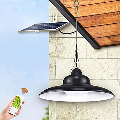 Ousam Led Solar Light Outdoor Chandelier with 16FT Cable 3500K-6000K Remote Controller for Outdoor,Gazebo,Patio, Ceiling Porch,Garden,Front Door, Yard, Garage, Deck Lighting