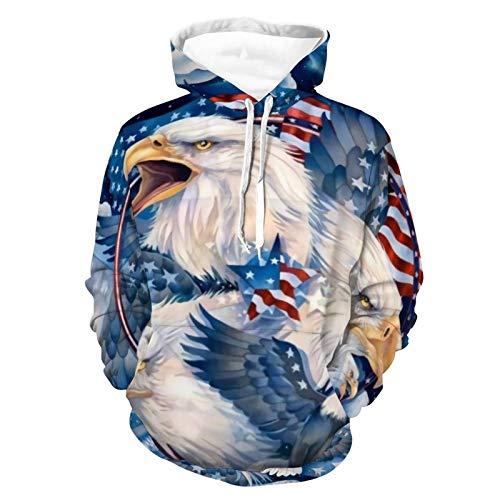 Hoodies Pullover Hooded Sweatshirts Casual with Big Pockets Pullover Sweatshirt 2XL