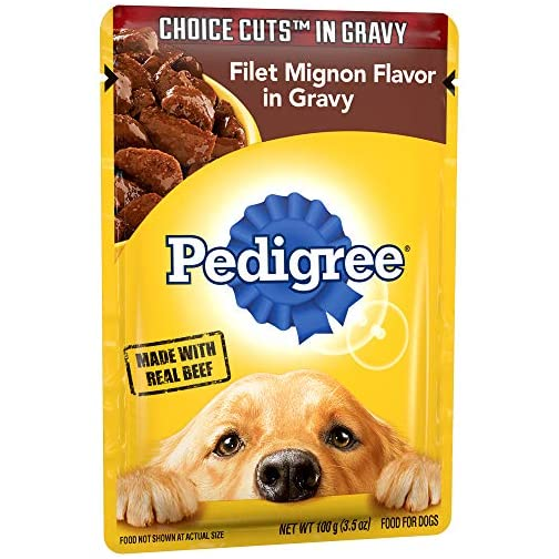 Pedigree Choice Cuts in Gravy Adult Wet Dog Food Variety Packs, 3.5 Oz. Pouches 3