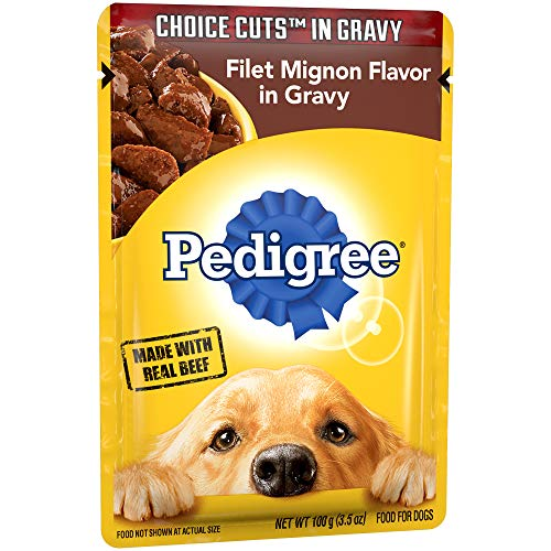 PEDIGREE CHOICE CUTS in Gravy Adult Wet Dog Food Filet Mignon Flavor, (16) 3.5 oz. Pouches (Best Filet Mignon Recipe Bobby Flay)