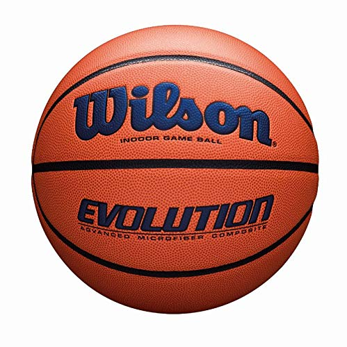 Wilson Sporting Goods Official, Size 29.5, Navy Wilson Evolution Indoor Game Basketball