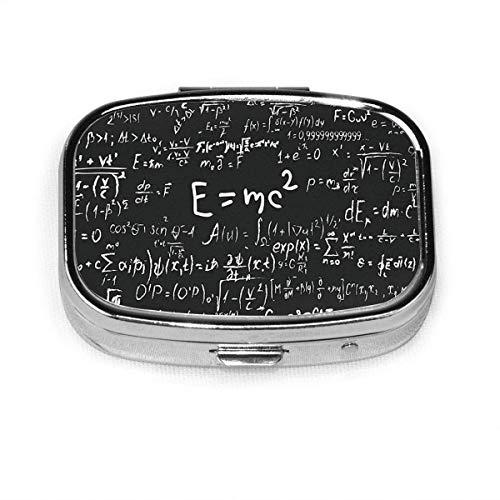 Ogden Juego de 2, Caja de píldora Cuadrada con 2 Compartimentos, Ecuaciones matemáticas de Caja de píldoras de Viaje portátiles - Profesor de Pizarra Estudiante