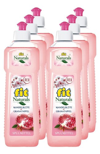 fit Naturals Spülmittel Mandelblüte-Granatapfel, 6er Pack (6 x 500ml)
