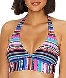 Anne Cole Women's Halter Bikini Swim Top, Retro Braided Stripe, X-Small