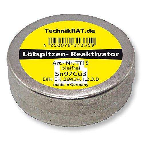 TechnikRat TT15 Lötspitzen-Reaktivator bleifrei 15g Dose