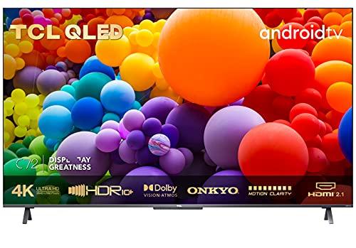 TCL 50C721 QLED Fernseher 50 Zoll Smart TV (4K UHD, Quantom Dot, 100% Farbvolumen, Android 11, Dolby Vision Atmos, MEMC, ONKYO, Google Duo, Google Assistant & Alexa, HDMI 2.1) [2021]