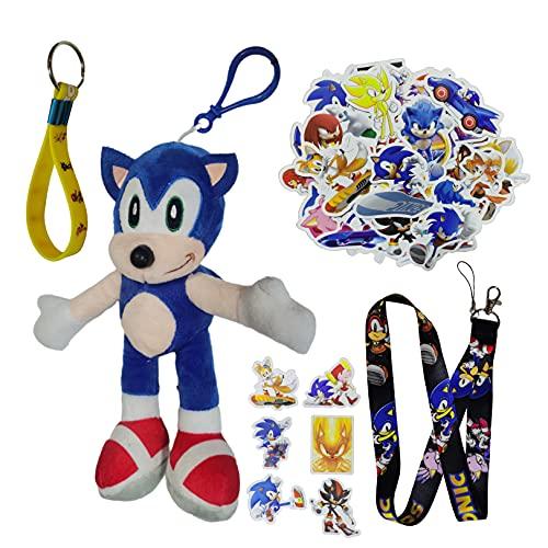 Sonic Doll Super Sonic Mouse Cartoon llavero coche creativo Sonic 2 erizo colgante adorno multifuncional tendencia moda