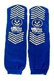 XXXL Blue Slip Stop Non-Skid Slipper Socks (12 Pairs) (Extra Wide Bariatric)
