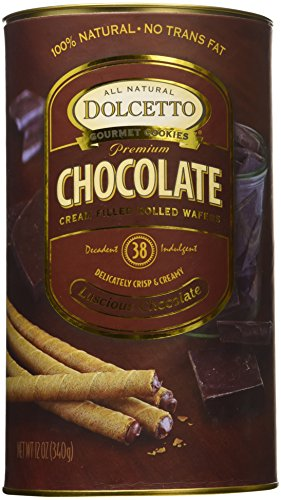 Dolcetto, Wafer Rolls Chocolate, 12 Ounce