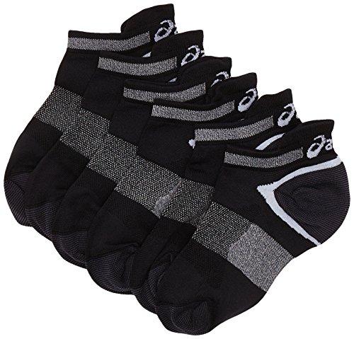 Asics Lyte (3 UNIDADES) calcetines, unisex, color negro, talla 39 42 EU