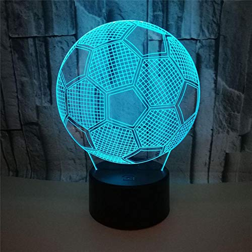nachtlicht anime boy Fixture Football LED Tisch Nachtlampe TOUCH RGB 7 Farben ändern sich in der Innennachtlicht Illusion Lampe 16 Farben Fernbedienung