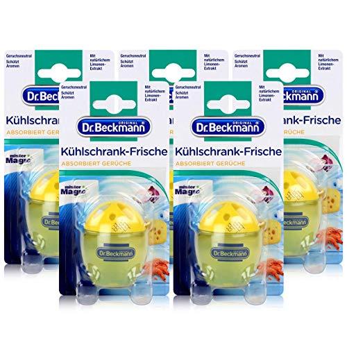 5x Dr. Beckmann Kühlschrank Frische Limone - Mit natürlichem Limonen-Extrakt
