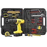 Work Expert 18V Cordless Hammer Drill 63 Piece Tool & Screwdriver Bit Accessory Set with Carry Case