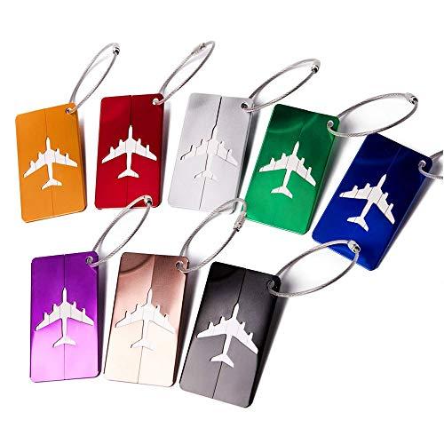 Gsyamh Etichetta Bagaglio Valigia Alluminio Impermeabile Etichette Per Bagagli Da Viaggio In Metallo In Alluminio Valigia Bagagli Bag Tag Alluminio Per Valigia Tag, Viaggio Holiday Deposito Bagagli