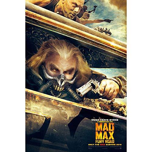 YHSM Filmcover Mad Max Fury Road Poster Leinwanddrucke Kunst 24x36inch Gelb