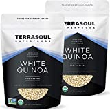Terrasoul Superfoods Organic White Quinoa, 4 Lbs - Pre-washed   Gluten-free   Plant Protein