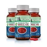 100% Pure Antarctic Krill Oil (90 caps) - 3 Units