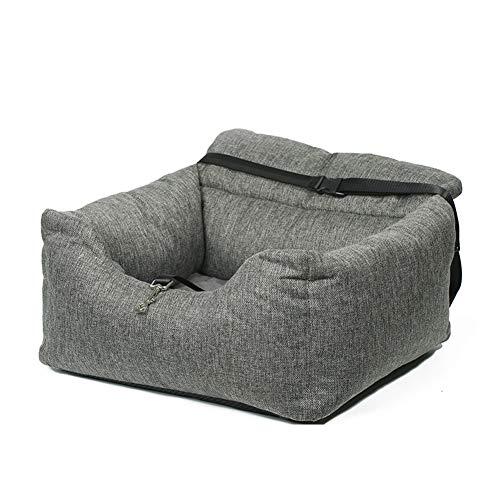 wenyujh 2-in-1 Autositz Bett für Hunde Hundesitz Hundebett wasserfest rutschfest Autokörbchen Hundedecke Hundekorb Sitzerhöhung für Rückbank (55 * 50 * 30, grau 1)
