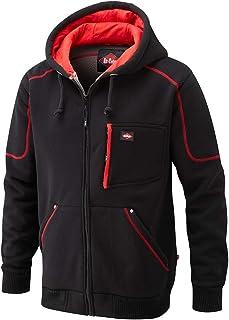 Lee Cooper LCSWT105 Mens Work Safety Zip Up Winter Fleece Lined Bonded Fleece Hoodie Sweatshirt, Black, X-Large