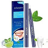 sumgott Zahnaufhellung Stift Safe Gel Zahnaufhellung (2er Pack) Ohne Empfindlichkeit Natürliches Minzaroma 40+ Verwendet 4ml
