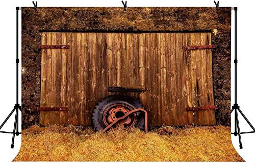 HD 7x5ft Old Farm Shed Tire Background Abandoned Country Farm for Film and Television Photography Children and Adults Photo Background Props LYLS769