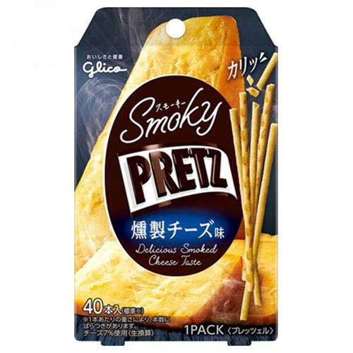 江崎グリコ スモーキーPRETZ(プリッツ) 燻製チーズ味 24g×14袋入×(2ケース)
